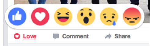 Facebook реакции